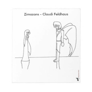 "Note pad with an illustration from ""Zimazans """