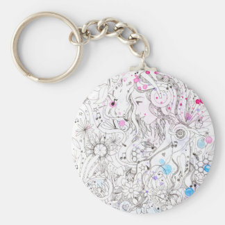 Note pop basic round button key ring