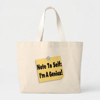 Note To Self Im A Genius Jumbo Tote Bag