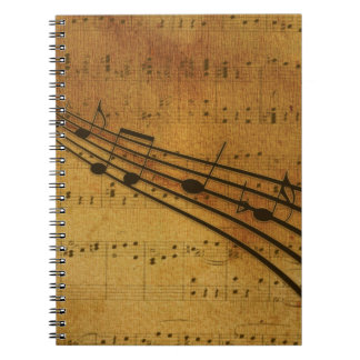 Note vintage style notebook