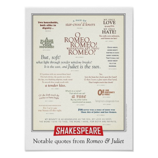 Noteable quotes from Romeo and Juliet Poster