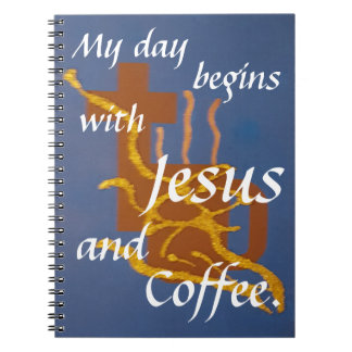 Noteboo  Jesus and Coffee Spiral Notebook
