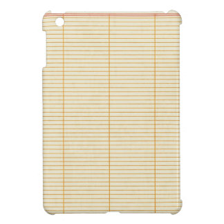 notebook19 LINED NOTEBOOK PAPER SCHOOL EDUCATION B iPad Mini Case