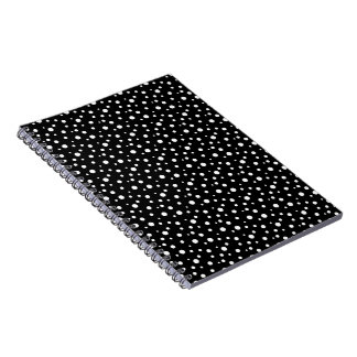 Notebook-Black & White Polka Dots Notebook