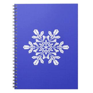 Notebook Blue Snow Flake