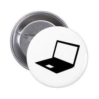Notebook computer 6 cm round badge