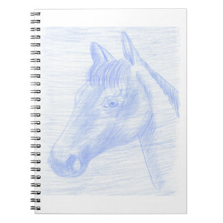 Notebook drawing horse