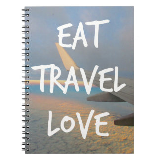 "Notebook ""Eat, Travel, Love """