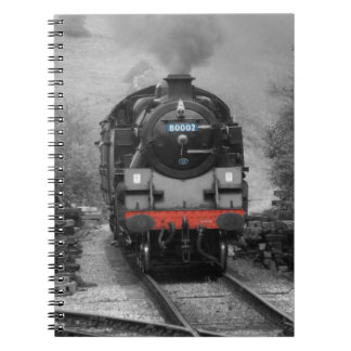 Notebook Featuring Steam Train On Cover