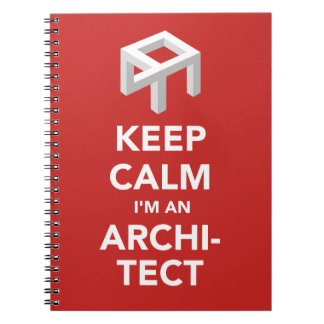 Notebook for humorous architect