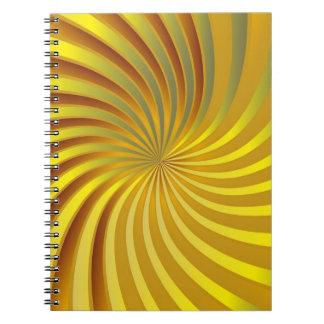Notebook gold spiral vortex