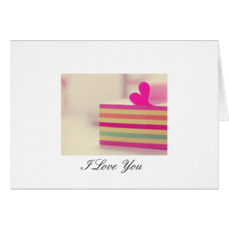 notebook, I Love You Greeting Card