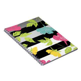 Notebook layer flowers and leaves