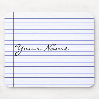 Notebook Lines (Put Your Name) Mouse Mat
