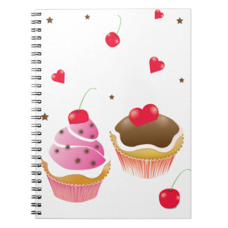 """notebook """"Love of cupcakes """""""