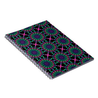 Notebook notes Psychedelic Spirale Fractal vision