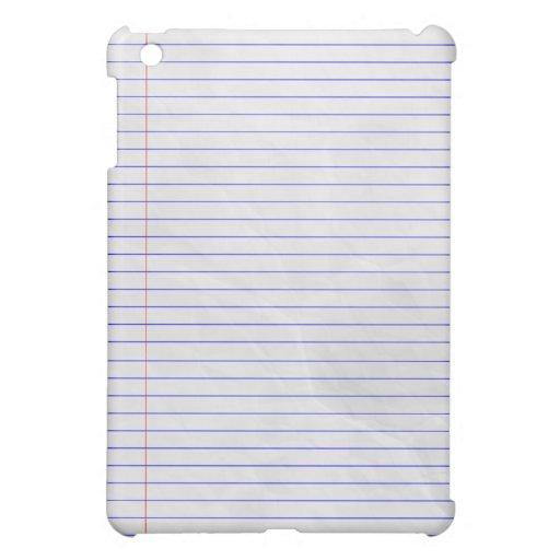 Notebook Pad White iPad Mini Case