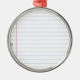Notebook Paper Christmas Ornament