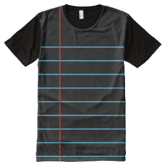 Notebook Paper Graphic© T-Shirt All-Over Print T-Shirt