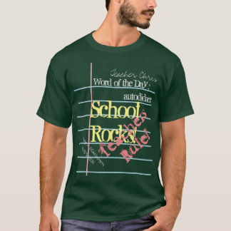 Notebook Paper on Green Chalk Board School T-shirt
