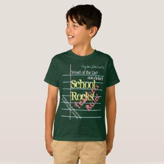 Notebook Paper on Green Chalk Board School T-shirt