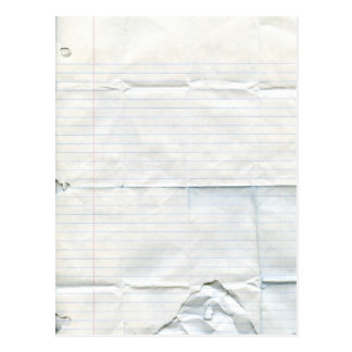 Notebook Paper Postcard