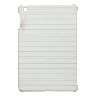 Notebook paper with flower iPad mini cases