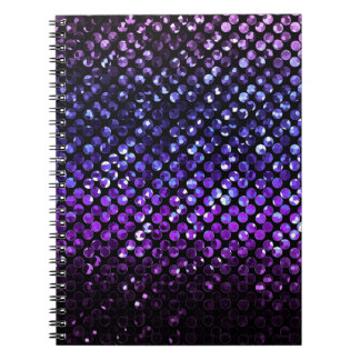 Notebook Purple Crystal Bling Strass