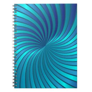 Notebook spiral vortex blue