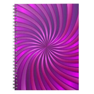 Notebook spiral vortex pink