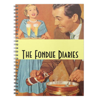 Notebook Vintage Fondue Diaries Party Couple Retro