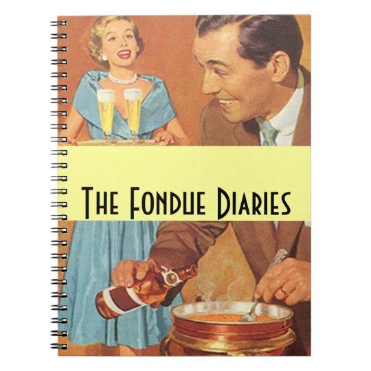 Notebook Vintage Fondue Diaries Party Couple Retro