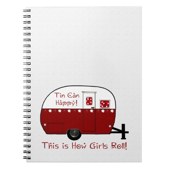 NOTEBOOK   Vintage Red Camper   Personalise It!
