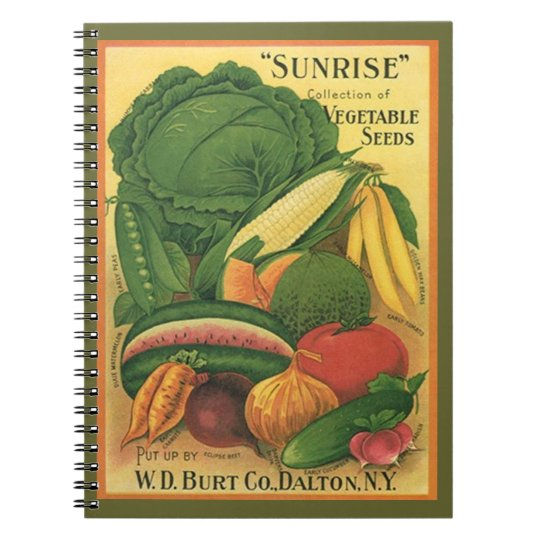 Notebook Vintage Seed Catalogue Garden Note