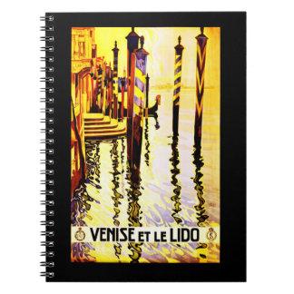 Notebook-Vintage Travel-Venise Spiral Note Book