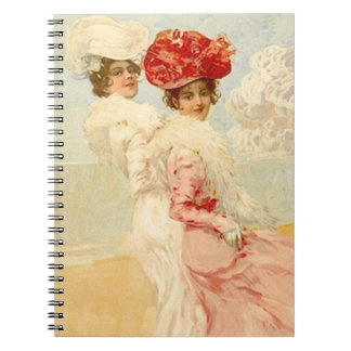 Notebook Vintage Victorian Friends Journal Diary