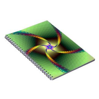 Notebook Whirligig in Green