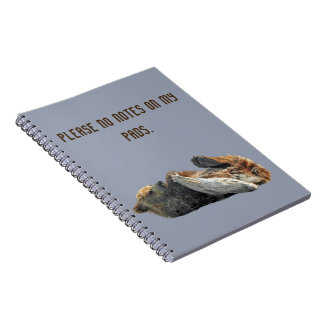 Notebook with bear cub
