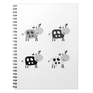 Notebook with cute Cows