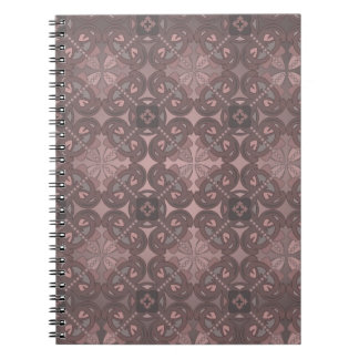 Notebook with decorative seamless ornament