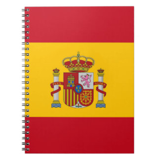 Notebook with Flag of Spain
