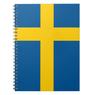 Notebook with Flag of Sweden