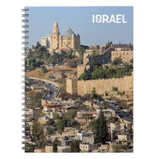 Notebook with Jerusalem in Israel