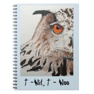 Notebook with Owl cover