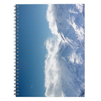 Notebook with photo of the Kluane Mountains