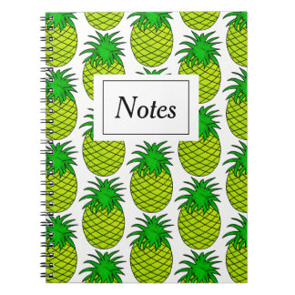 Notebook with photo Pineapple