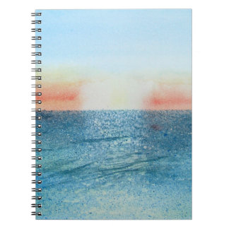 Notebook with Seascape No 2. watercolour painting