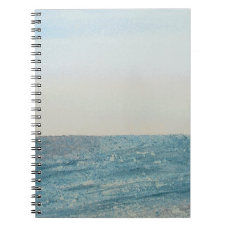 Notebook with seascape watercolour painting