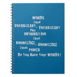 "Notebook ""Words Blue"""