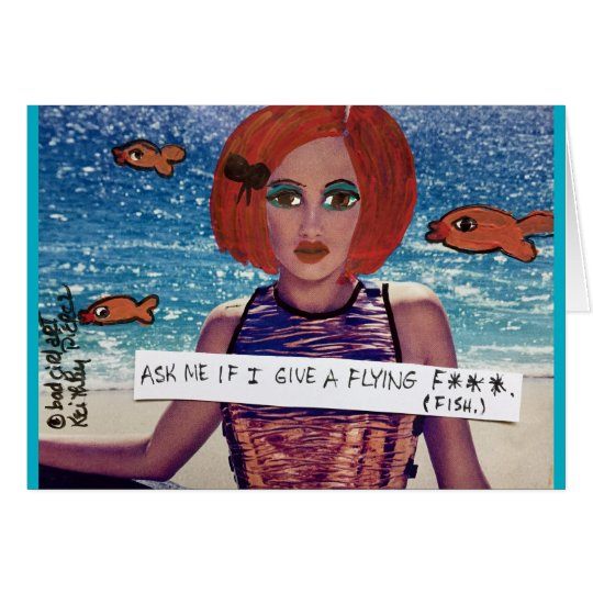Notecard-ask me if I give a flying fish